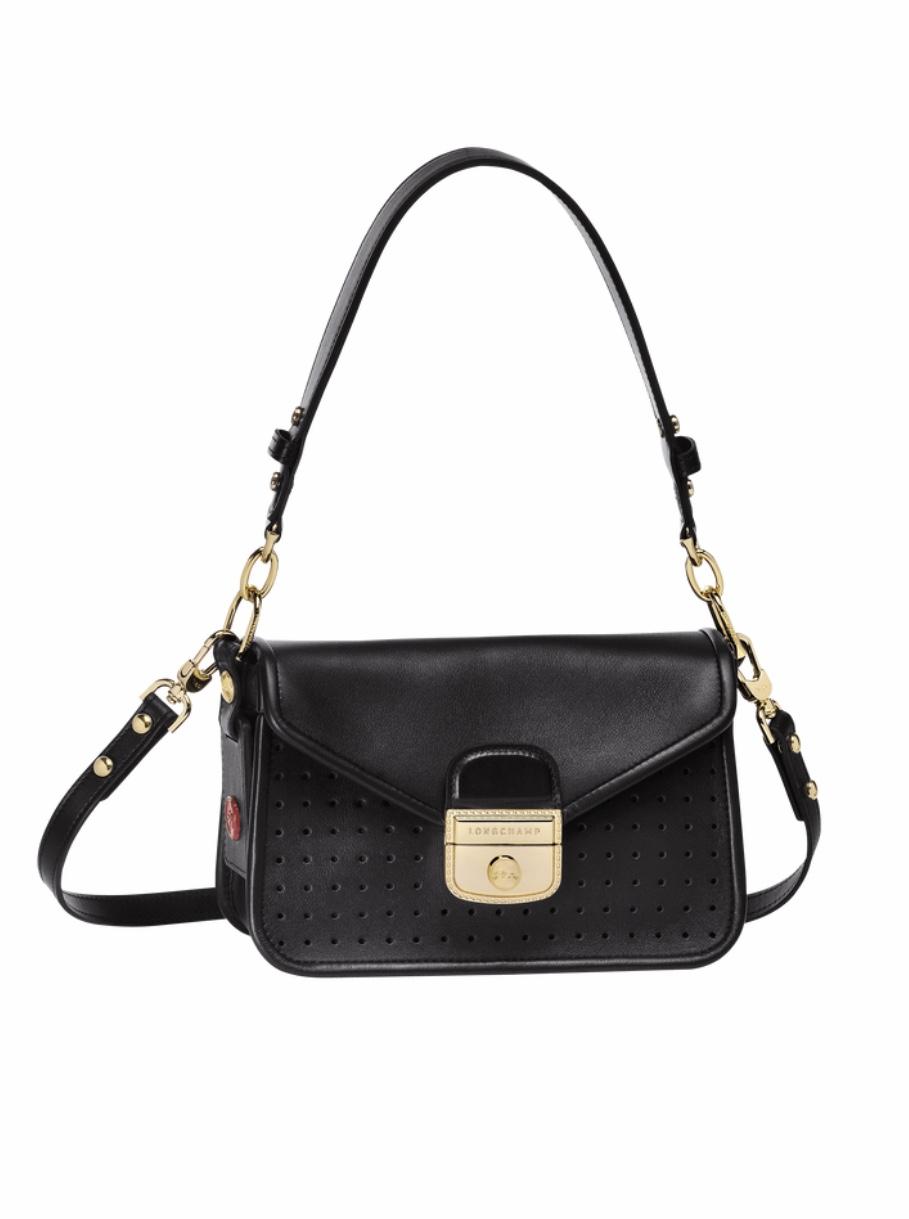 LONGCHAMP Mademoiselle Longchamp sac porté travers Noir