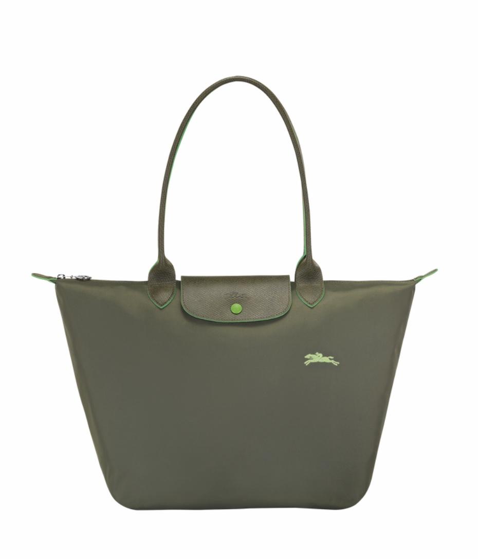 LONGCHAMP le pliage club sac porté épaule L vert sapin