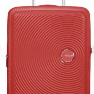 AMERICAN TOURISTER Soundbox Valise 4 roues Extensible 55cm rouge corail