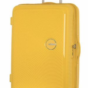 AMERICAN TOURISTER Soundbox Valise 4 roues Extensible 77cm Jaune or